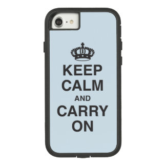 KEEP CALM AND CARRY ON GRUNGY Light Blue Case-Mate Tough Extreme iPhone 8/7 Case