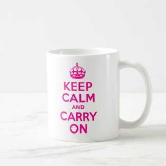 Keep Calm And Carry On Hot Pink Best Price Classic White Coffee Mug