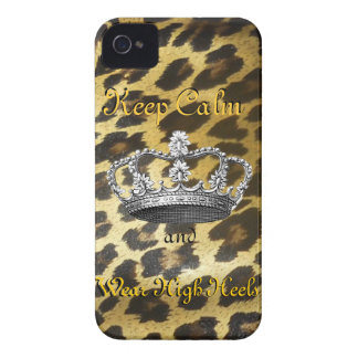 Keep Calm and Carry On (in High Heels) iPhone 4 Case