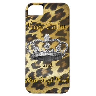 Keep Calm and Carry On (in High Heels) iPhone 5 Cases