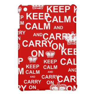Keep Calm and Carry On iPad Mini Cover