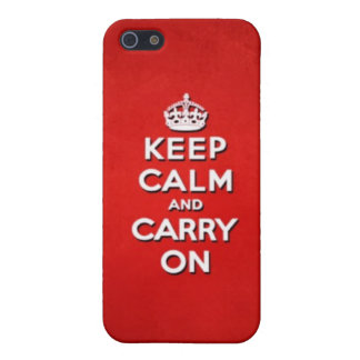 Keep Calm and Carry On iPhone 5/5S Case