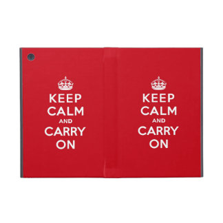 Keep Calm and Carry On London Red iPad Mini Case