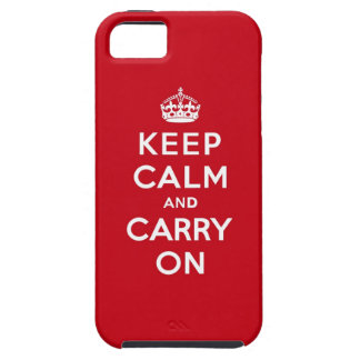 Keep Calm and Carry On London Red iPhone 5 Cover