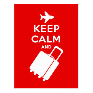 Keep Calm and Carry on Luggage Postcard