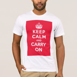 Keep Calm and Carry On_MENS T_RED T-Shirt