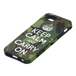 Keep Calm and Carry On Military Camo iPhone 5 Case