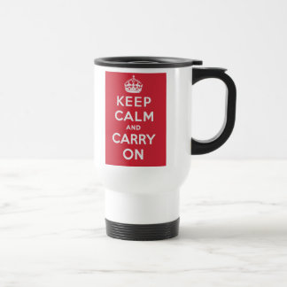 Keep Calm And Carry On 15 Oz Stainless Steel Travel Mug
