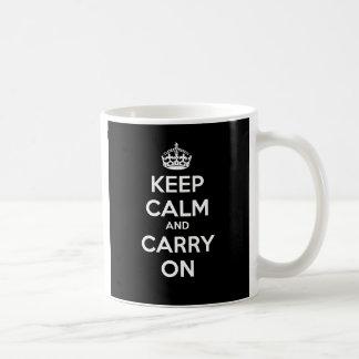 Keep Calm and Carry On Mug - Black