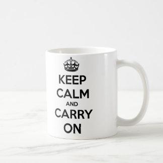 Keep Calm and Carry On Mug (black and white)