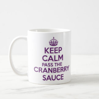 Keep Calm and Carry on mug - Cranberry