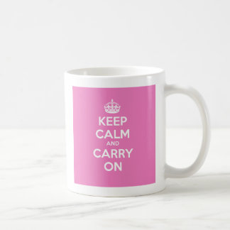Keep Calm and Carry On Mug - Pink