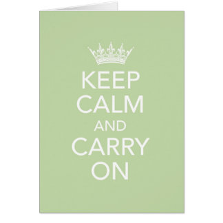 Keep Calm and Carry On Note Card