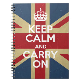 Keep Calm And Carry On Notebooks
