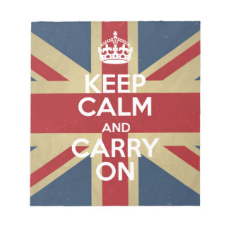 Keep Calm And Carry On Notepad