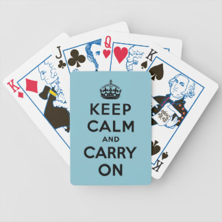 keep calm and carry on Original Bicycle Playing Cards