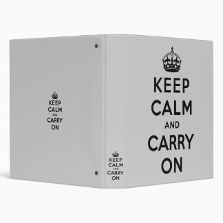 keep calm and carry on Original 3 Ring Binders