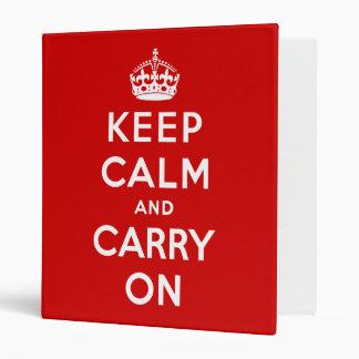 keep calm and carry on Original Binders