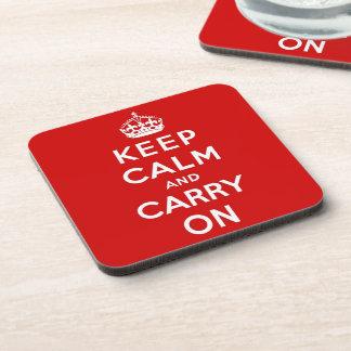 keep calm and carry on Original Coaster