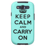 keep calm and carry on Original Galaxy SIII Case