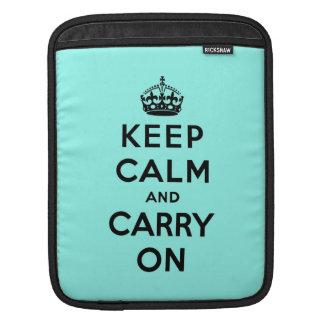 keep calm and carry on Original iPad Sleeve