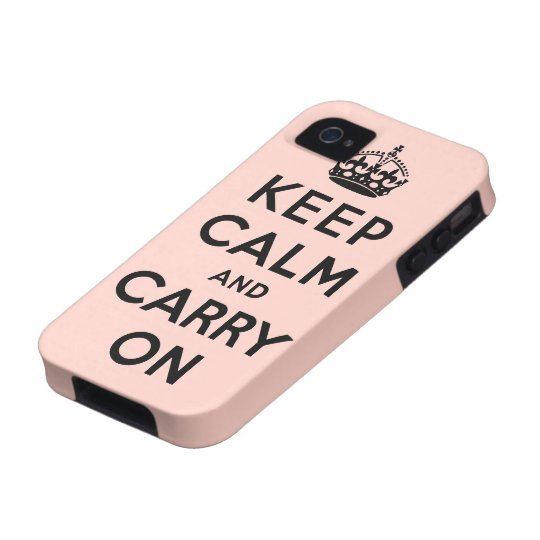 keep calm and carry on Original iPhone 4/4S Case