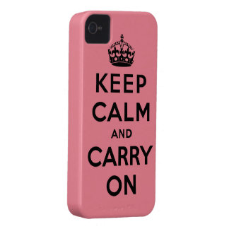 keep calm and carry on Original iPhone 4 Case-Mate Cases