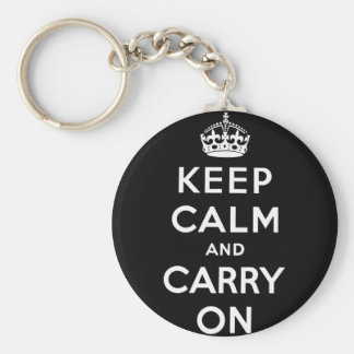 keep calm and carry on Original Keychain