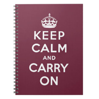 keep calm and carry on Original Spiral Note Books