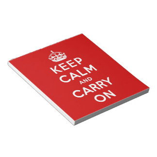 keep calm and carry on Original Notepads