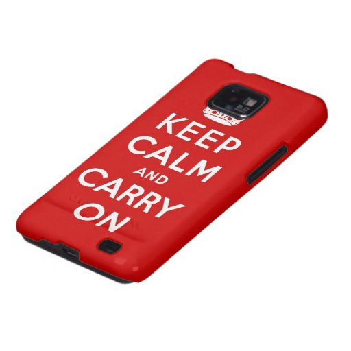 keep calm and carry on Original Samsung Galaxy S2 Cover