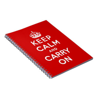 keep calm and carry on Original Spiral Notebooks
