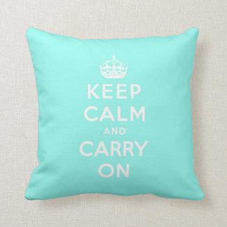 keep calm and carry on Original Throw Pillow