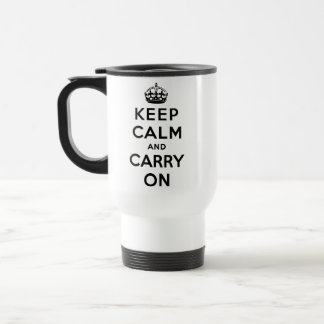 keep calm and carry on Original Travel Mug