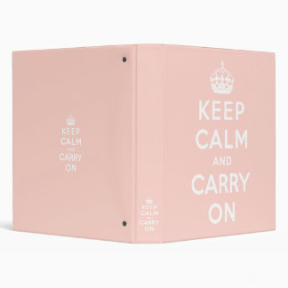 keep calm and carry on Original Vinyl Binders