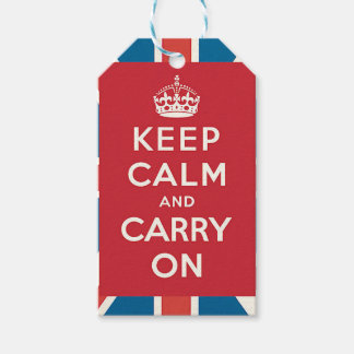 Keep Calm and Carry On Pack Of Gift Tags
