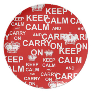 Keep Calm and Carry On Party Plate