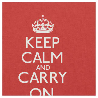 Keep Calm And Carry On Pattern Fabric
