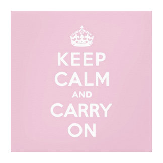 Keep Calm and Carry On Persian Rose Canvas Print