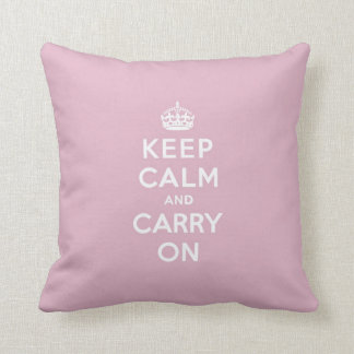 Keep Calm and Carry On Persian Rose Throw Pillow