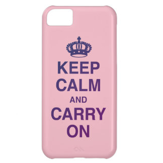 KEEP CALM AND CARRY ON Pink iPhone 5C Cover