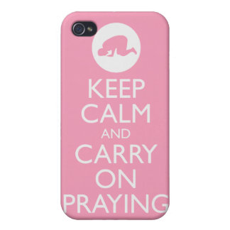 'Keep Calm and Carry on Praying' Pink! iPhone 4 Case