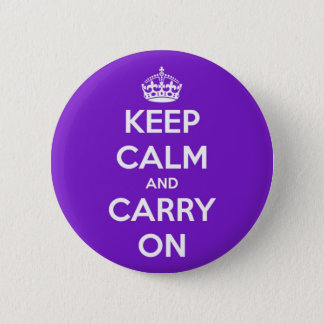 Keep Calm and Carry On Purple 2 Inch Round Button