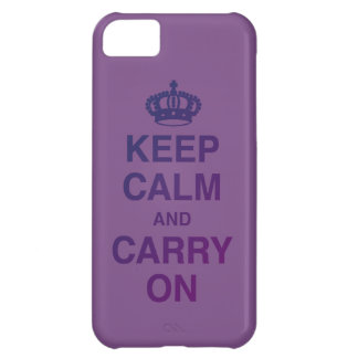 KEEP CALM AND CARRY ON PURPLE Case-Mate iPhone CASE