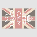 Keep Calm And Carry On Rectangle Stickers