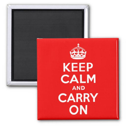 Keep Calm and Carry On Red Magnets