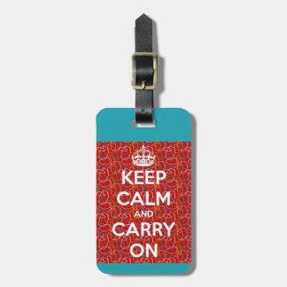 Keep Calm and Carry On Retro Bag Tag