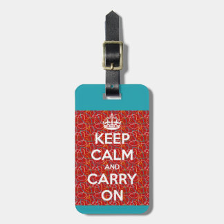 Keep Calm and Carry On Retro Luggage Tag