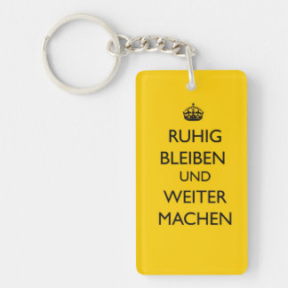 Keep Calm and Carry on - Ruhig Bleiben German Keychain