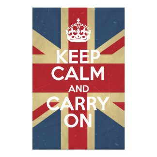 Keep Calm And Carry On Stationery